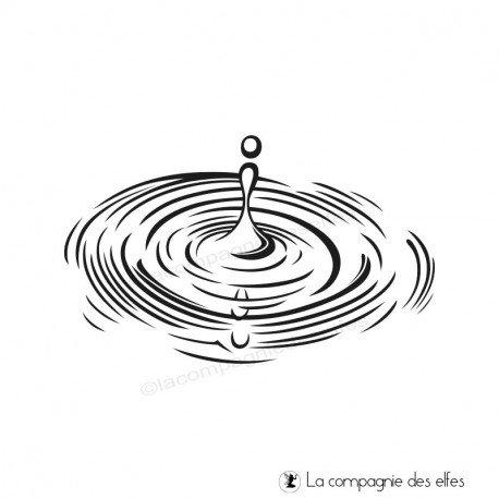 Tampon de fond goutte eau | flaque d'eau tampon