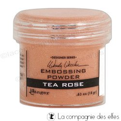 Tea rose powder | poudre embosser tea rose Ranger