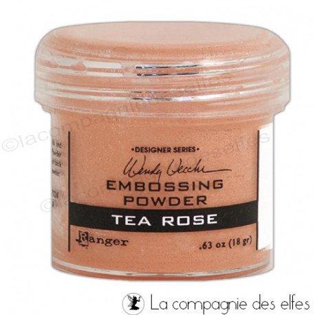 Tea rose powder | poudre embosser tea rose Ranger