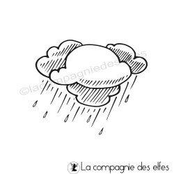 Tampon nuages et pluie