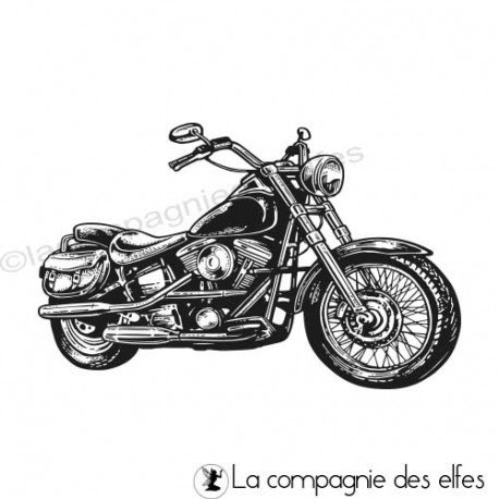 Acheter tampon moto de route | motorcycle rubber stamp