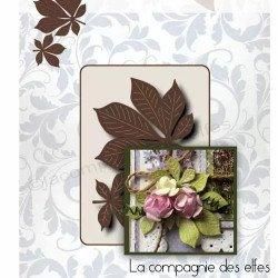 Achat dies duo feuilles marronnier
