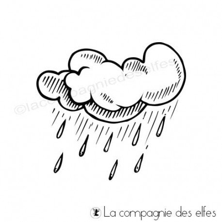 Tampons nuages pluie | nuages pluie tampon encreur