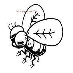 tampon insecte | fly rubber stamp