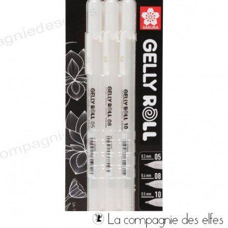 Acheter stylos gel blanc gelly roll