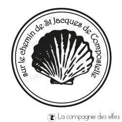 Timbre bois St jacques compostelle | tampon compostelle