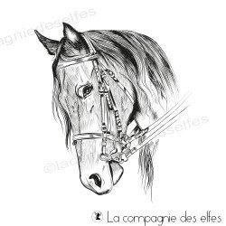 Tampon cheval équestre