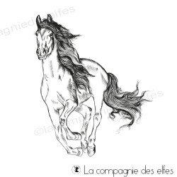 Tampon cheval au galop