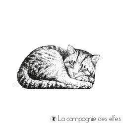 Tampon le chat qui dort petit modèle