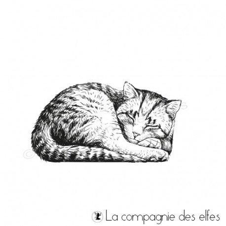 Tampon encreur le chat qui dort