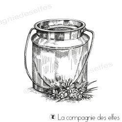 Tampon pot à lait fleuri