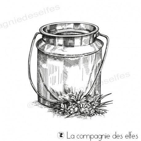 pages d'art journal 2/2 Tampon-pot-a-lait-fleuri