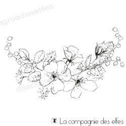 Tampon farandole fleurie