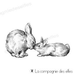 Tampon lapins nez à nez