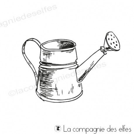 Achat tampon arrosir de Pâques | watering can stamp