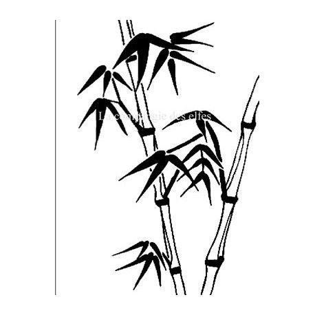Cartes libellule 3/3 Bambous-tampon-nm