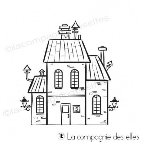 Achat tampon maison | little house stamp