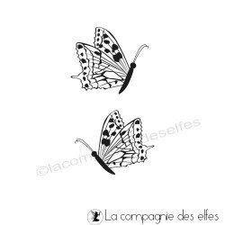 Tampon duo de papillons