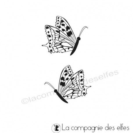 Schmetterling stempel | butterflies rubber stamp