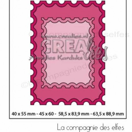 Achat dies faux timbres Crealies | ats stamp dies