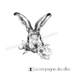 Tampon lapine grande fleur