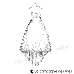Achat tampon robe mariage | wedding dress stamp