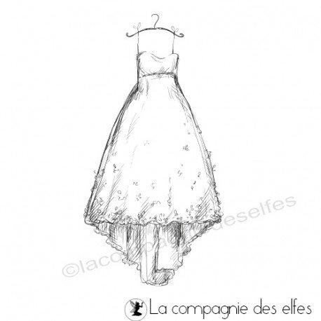 Achat tampon robe mariage   wedding dress stamp