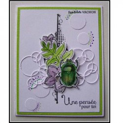 Carte fait main printemps
