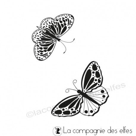 Schmetterling stempel | butterfly rubber stamp