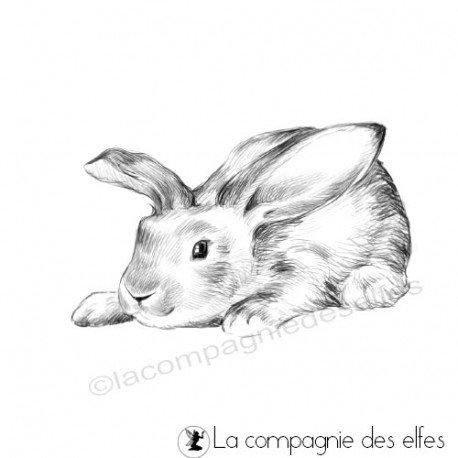 Achat tampon lapins de Pâques | easter rabbits stamp