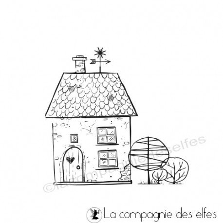 Acheter tampon maison | little house stamp