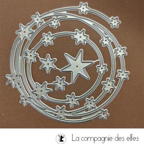 Achat dies métal ronde d'étoiles