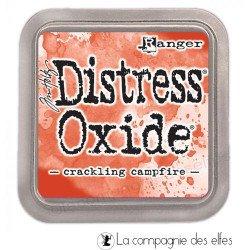 Distress oxide encreurcrackling campfire