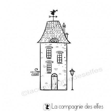 Achat tampon maison habitation | big house stamp