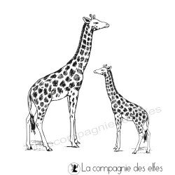 Tampon girafes zoo