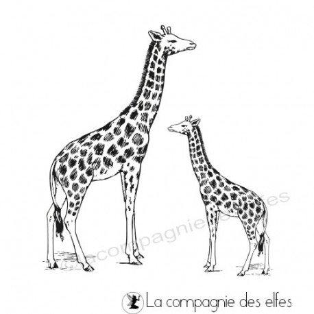 Acheter tampon encreur girafe | semelle animaux zoo