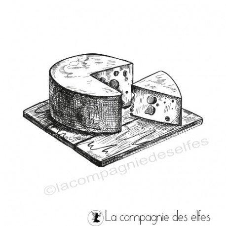 pages d'art journal 2/2 Tampon-plateau-de-fromages