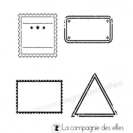 Tampon scrap étiquettes | étampe étiquettes