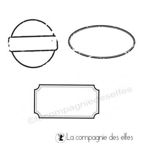 Tampon scrap étiquettes | étampes étiquettes scrapbooking