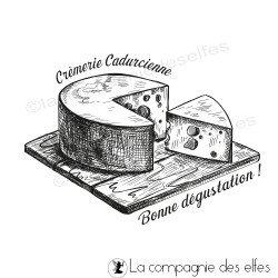 Achat tampon en bois fromage sur mesure