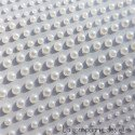 Demi perles autocollantes assorties blanches
