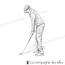 Tampon encreur golfeur