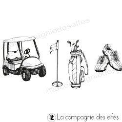 Achat timbre encreur golf sport