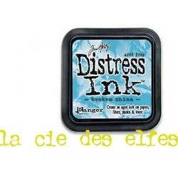 distress encreur bleu broken china