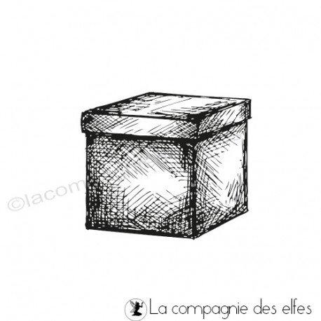 Cachet petit carton | achat tampon boîte fermée