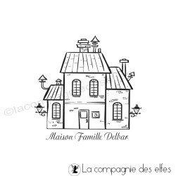 Tampon sur mesure maison de famille