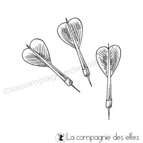 cartes 2/3 Tampon-encreur-flechettes