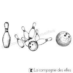 Achat tampon bowling boule et quilles