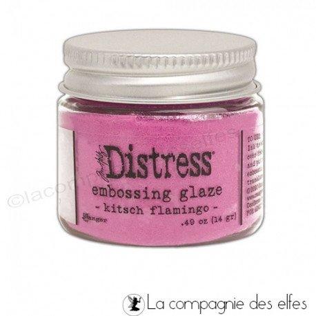 Acheter distress embossing glaze flamingo kitsch