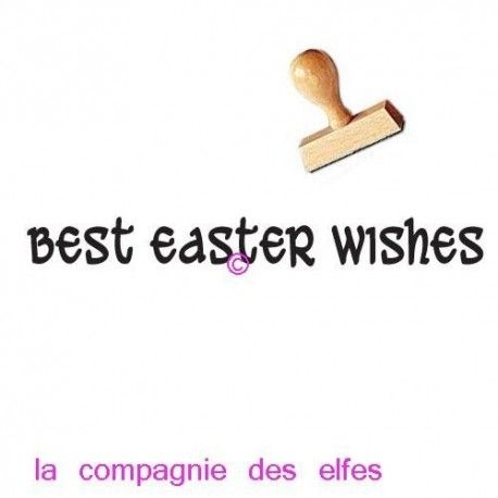 TAMPON BOIS Best easter wishes